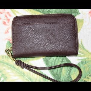 Brown Charming Charlie wristlet